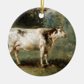 A Cow in a Landscape by Constant Troyon Christmas Ornament