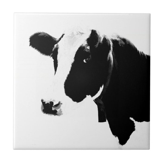 A Cow Is a Milk Container Small Square Tile