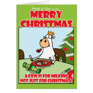 A Cow is for Milking! Card