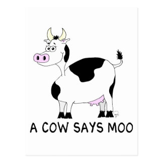 A Cow Says Moo Postcard