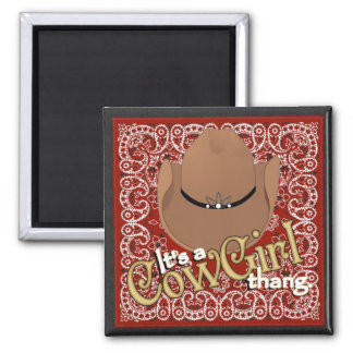 A Cowgirl Thang Red Bandana Magnet
