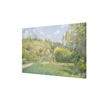 A Cowherd at Valhermeil, Auvers-sur-Oise Canvas Print
