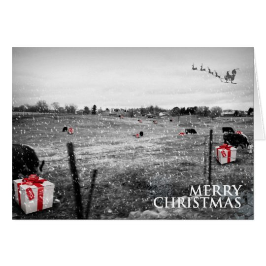 A Cow's Christmas Card