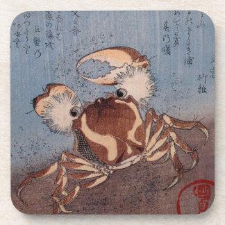A Crab on the Seashore by Utagawa Kunisada Coasters