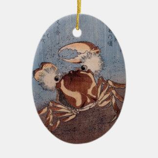 A Crab on the Seashore by Utagawa Kunisada Ceramic Oval Decoration