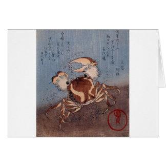 A Crab on the Seashore by Utagawa Kunisada Greeting Card