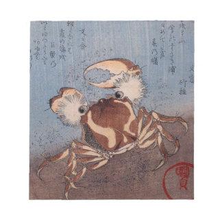 A Crab on the Seashore by Utagawa Kunisada Memo Notepads