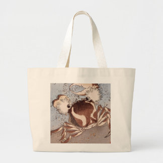 A Crab on the Seashore Large Tote Bag