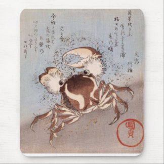 A Crab on the Seashore Mouse Mat