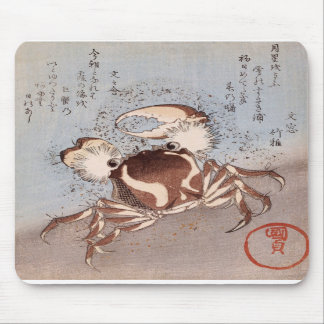 A Crab on the Seashore Mouse Pads