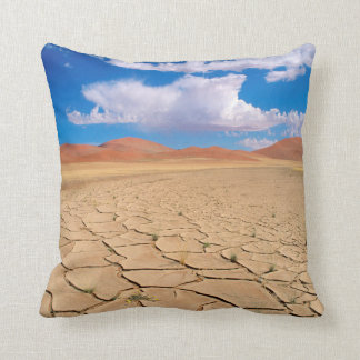A cracked desert plain cushion