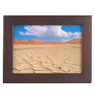 A cracked desert plain keepsake box