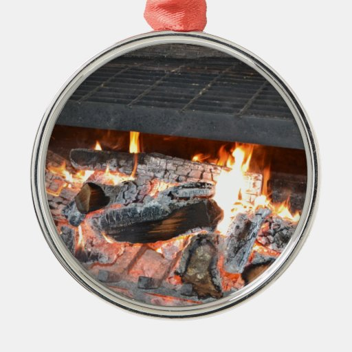 A Crackling Fire Christmas Tree Ornaments