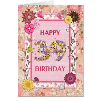 A craft look 39th birthday card