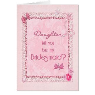 A craft look Bridesmaid invitation