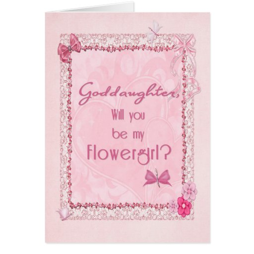 A craft look Flower Girl invitation Cards