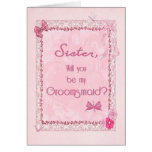 A craft look Groomsmaid invitation Cards