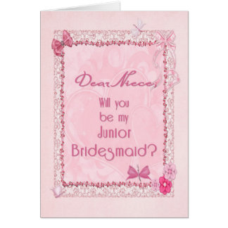 A craft look Junior Bridesmaid invitation