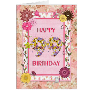 A craftlook 99th birthday card