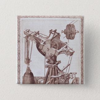 A Crane 15 Cm Square Badge
