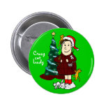 'A Crazy Cat Lady Christmas' Button