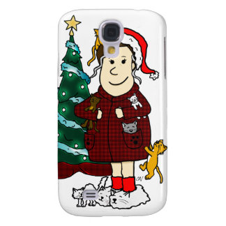 A Crazy Cat Lady Christmas Samsung Galaxy S4 Case