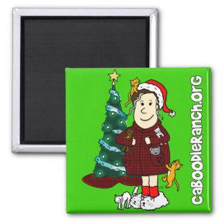'A Crazy Cat Lady Christmas' Square Magnet