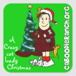 'A Crazy Cat Lady Christmas' Sticker