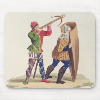 A Cross-bowman and his Paviser, 1433, from 'Ancien Mouse Pad