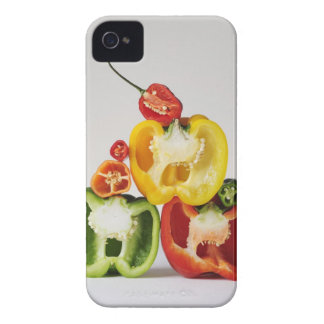 A cross-section of peppers iPhone 4 Case-Mate case