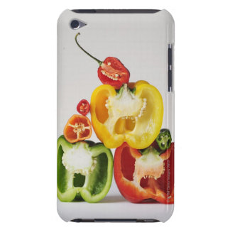 A cross-section of peppers iPod Case-Mate cases