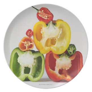 A cross-section of peppers plates