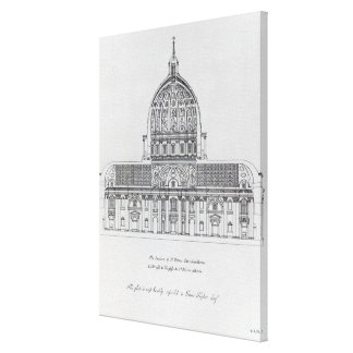 A cross-section of St. Peter's, Rome Canvas Print