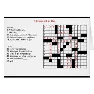 A Crossword for Dad Greeting Card