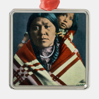 A Crow Indian Madonna and Child Christmas Ornament