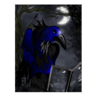 A Crow s Story Gothic Folk Art Postcard