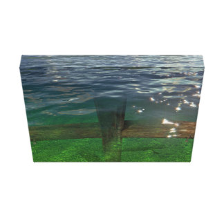 A Crucifix Immersed In Water Gallery Wrap Canvas