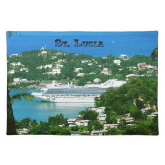 A Cruise Ship docked at St. Lucia Placemat