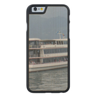 A cruise ship on Lake Thun Carved® Maple iPhone 6 Slim Case