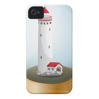 A crystal ball with a lighthouse inside.pdf iPhone 4 Case-Mate cases