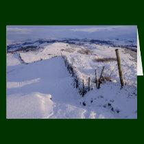 A Cumbrian winter landscape Greeting Card