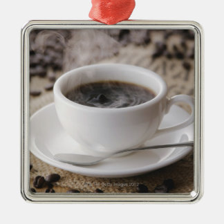 A cup of coffee christmas ornament