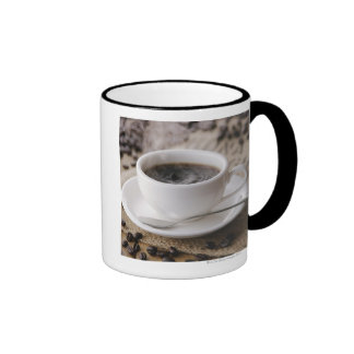 A cup of coffee ringer mug