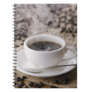 A cup of coffee spiral notebook