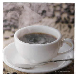A cup of coffee tile