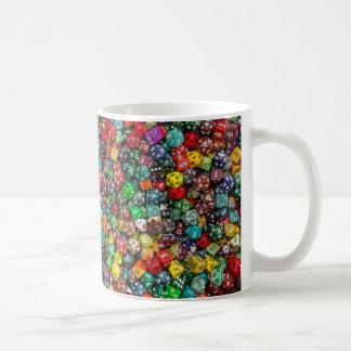 A cup of dice! basic white mug