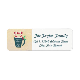 A Cup of Peace, Love and Joy Return Address Label