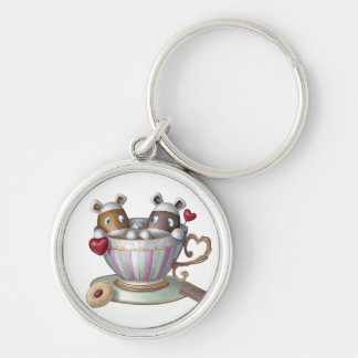 A Cup Of Tea & A Slice Of Bake® - My Cup Of Tea Silver-Colored Round Key Ring