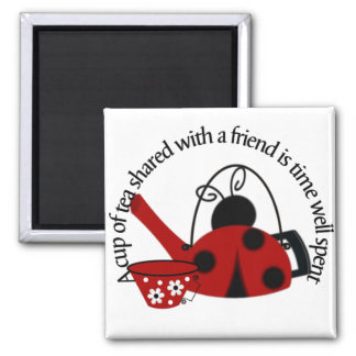 A Cup of Tea shared with a Friend Magnet