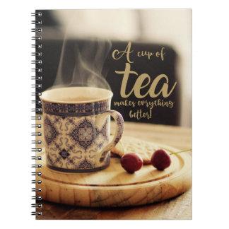A cup of Tea! Spiral Notebook